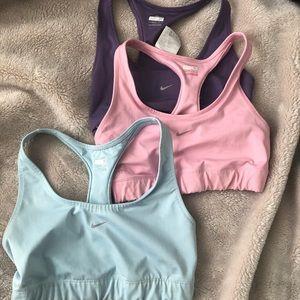 3 Nike Dri-fit Sports bras